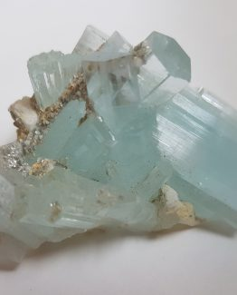Highly elegant group of Aquamarine Beryl crystals.