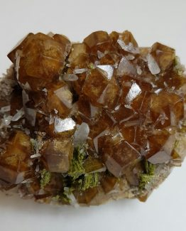 Attractive specimen of Andradite Garnet with small crystals of Quartz and Epidote