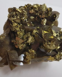 Excellent specimen of Siderite and Chalcopyrite.
