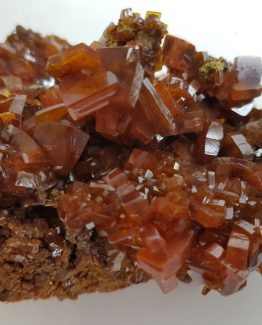 Wulfenite specimen with crystals great beauty and intense color.