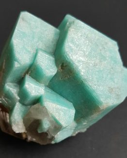 Amazonite crystal group, well-formed and perfectly defined, with intense color.