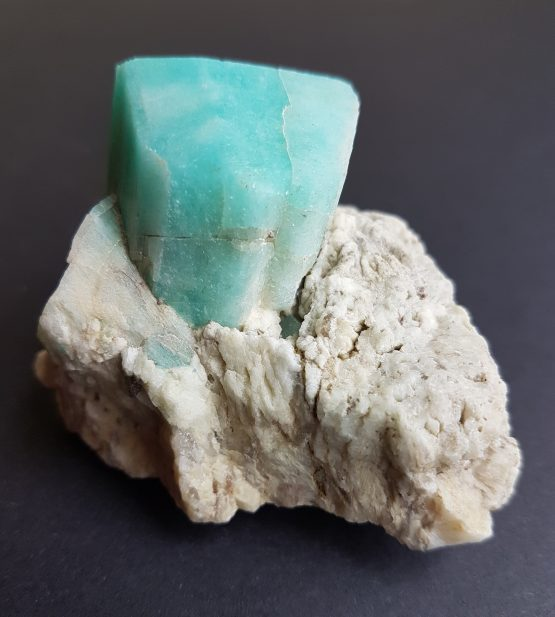 Amazonite crystal on matrix