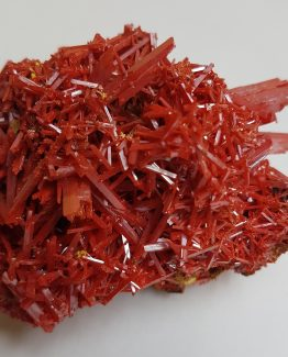Prismatic crystals aggregate of Crocoite.