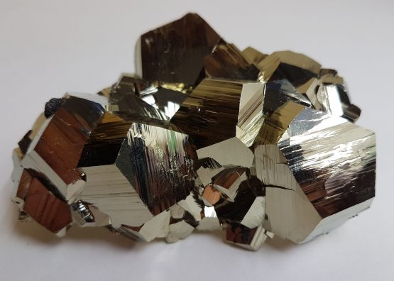 Pyrite crystal group of great luster and perfection.