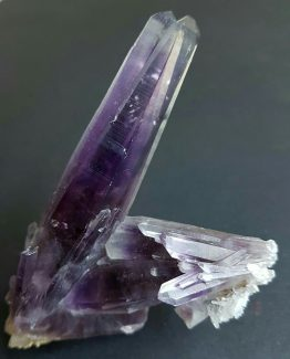 Amazing lustrous and translucent purple crystals of Quartz variety Amethyst.