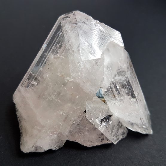 Twinned terminated Danburite crystal aggregate.
