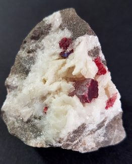 Prismatic crystal Cinnabar on Dolomite
