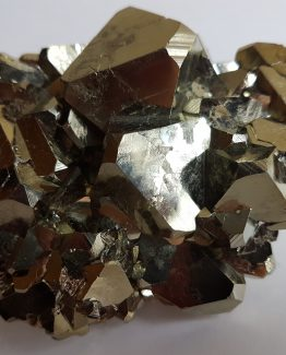 Group of octahedral crystals of Pyrite