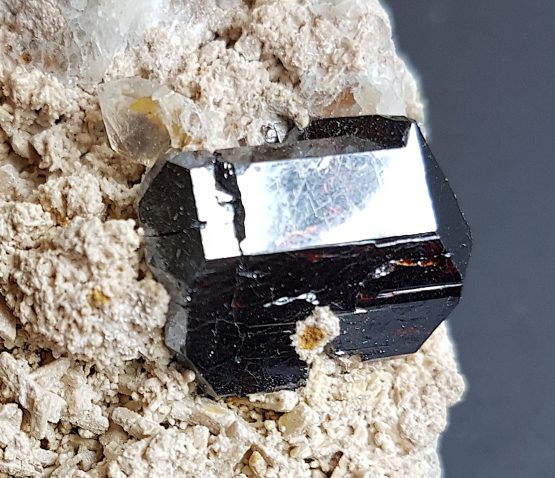 Superb doubly terminated Rutile crystal on matrix.