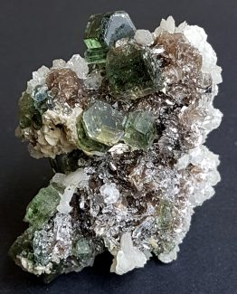 Green Fluorapatite beveled gem crystals.