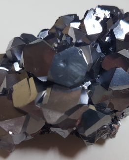Dense group of Galena cuboctahedral crystals.