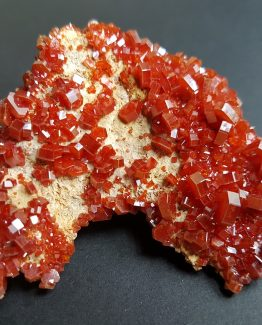 Group of perfectly defined Vanadinite hexagonal crystals