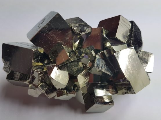 Group of cubic crystals of Pyrite
