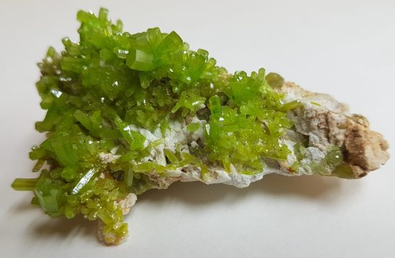 Outstanding group of green Pyromorphite crystals.