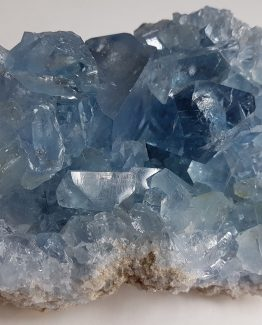 Group of Celestine crystals