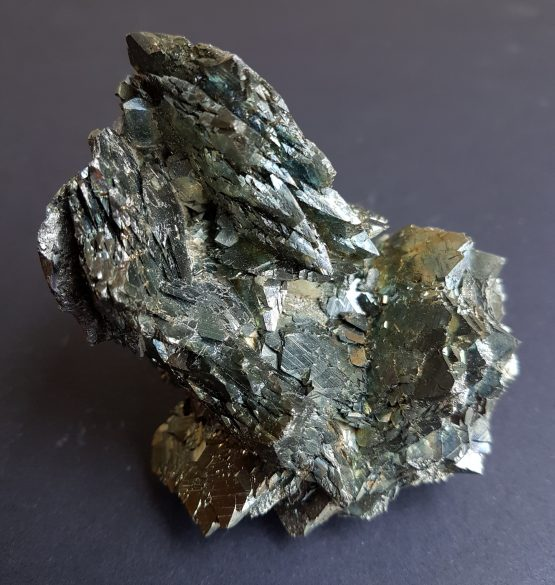 Irregular aggregate of flattened cystals of Marcasite from Panasqueira mines.