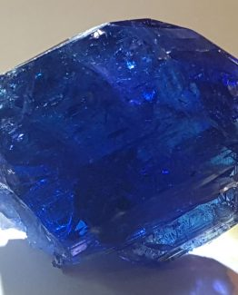 Splendid twin of Tanzanite crystals.