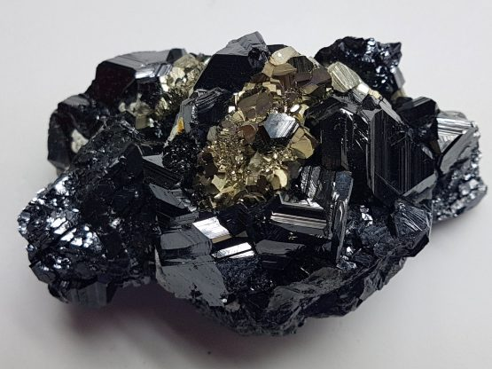 Beautiful combination of Sphalerite and Pyrite.