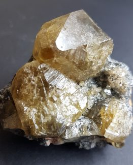 A splendid specimen of Cerusite composed of a group of large size crystals.