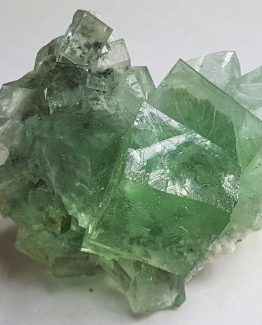 Nice specimen of green Fluorite formed by a group of cubic crystals.