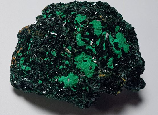 Olivenite crystals on matrix.
