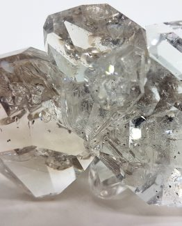 A beautiful Herkimer Quartz specimen with eight perfectly formed twinned crystals.